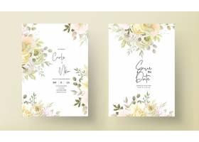与温暖的软的秋天秋天花卉的婚礼邀请卡片_17302326