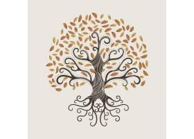 与秋叶的手拉的树生活_10502869