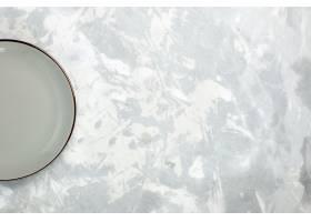 顶视图空的板材灰色在白色背景厨房食物玻璃_13192029