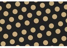 金黑圆点闪闪发光的图案壁纸_15556663
