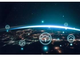 数字世界为横幅背景由美国国家航空航天局_16016436