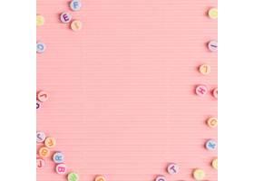 字母珠子边框粉红色壁纸文本空间_15849823