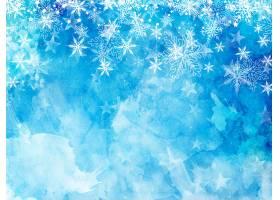 圣诞雪花和星星_3449174