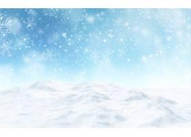 3d回报多雪的圣诞节风景_11319840