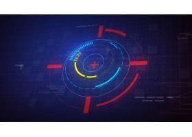 高科技未来派HUD显示圈元素_1198389