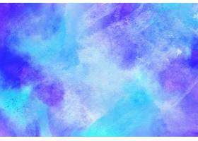 蓝色和紫色水彩背景_15753620