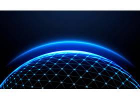 蓝色地球发光的气氛壁纸_15556751
