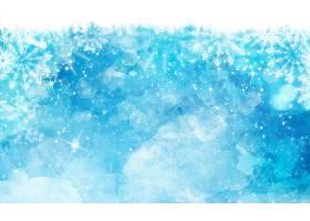 蓝色背景水彩圣诞节_970786