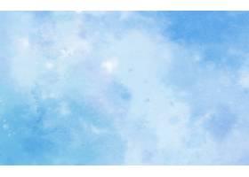 蓝色颜色水彩背景_13568388