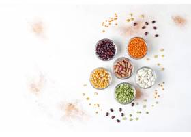 豆类和豆类分类健康的素食蛋白质食物_14964488
