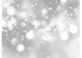 银色圣诞节背景_3634279