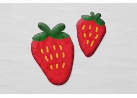 橡皮泥黏土风格的草莓_17228527