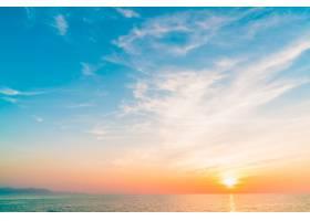 景观天空黄昏美容海滩_1091096