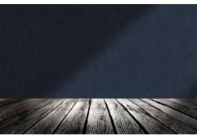 木地板有蓝色墙壁产品背景_15662561