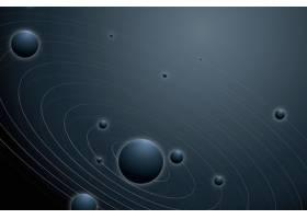 与行星的太阳系星系背景在美学样式_17226362