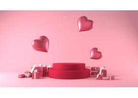 产品安置的指挥台在情人节与装饰_11690507