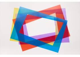 倾斜边框红色蓝色在白色背景隔绝的紫色和_5223420