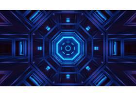 与发光的霓虹蓝色光的翻译抽象未来派背景_10860245