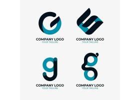 字母g logo模板集合_14017073