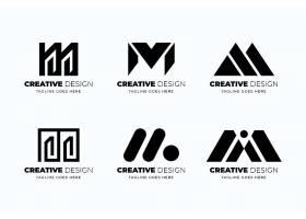 平面设计m logo模板集合_13404227