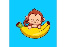 拿着香蕉动画片传染媒介象例证的逗人喜爱的_16242570