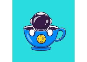 杯子动画片传染媒介象例证的逗人喜爱的宇航_16246926