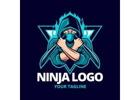 详细的ninja标志模板_15478242
