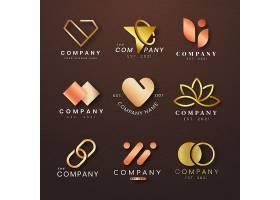 豪华企业徽标集玫瑰金图标设计_16339673