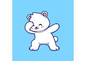 逗人喜爱的北极熊蹒跚动画片传染媒介象例证_16304164