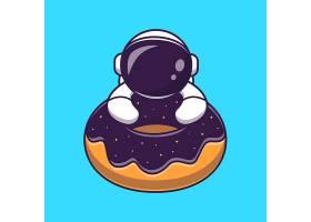 逗人喜爱的宇航员用多福饼空间动画片传染媒_16250902