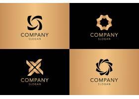 金色公司标志汇集矢量_16264567