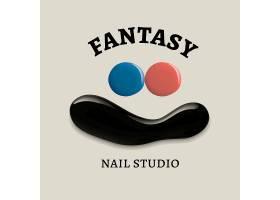 钉子演播室企业徽标矢量创意颜色油漆风格_16252762