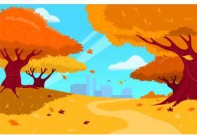 手拉的秋天背景_16134747