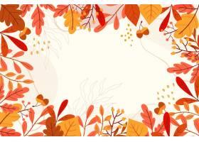手拉的秋天背景_16391214
