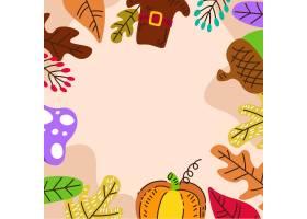 手拉的秋天背景_16391224
