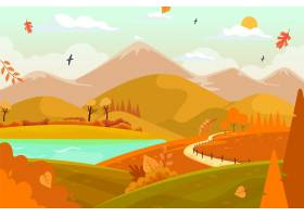手拉的秋天背景_16395810