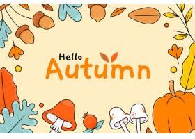 手拉的秋天背景_16676852