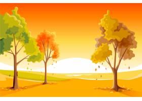手拉的秋天背景_9823565