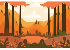 平的秋天背景_16134742