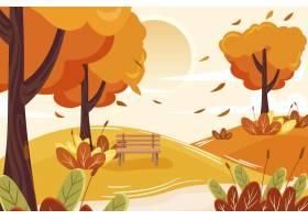 平的秋天背景_16134743