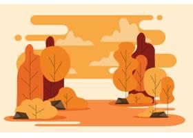 平的秋天背景_16134749