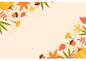 平的秋天背景_16391266