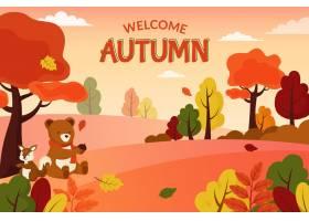 平的秋天背景概念_9307928