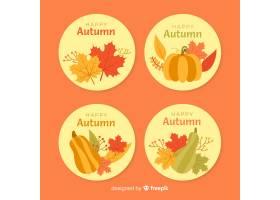 平面设计秋季徽章集合_4961243