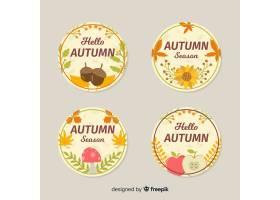 平面设计秋季徽章集合_4961244