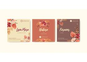 广告和营销的秋天花概念设计_9503104