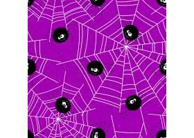 与蜘蛛和网的万圣夜无缝的背景传染媒介例_16311386