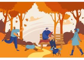 人们在秋天的时间玩乐_17762905