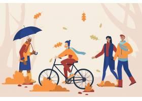 人们在秋天的时间玩乐_17762911