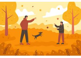 人们在秋天的时间玩乐_17762913
